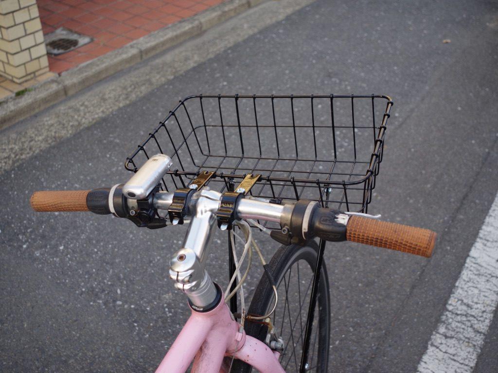 クロスバイク カゴ カスタム