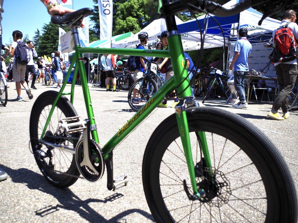 ケルビム ミニベロ クロモリ ハンドメイド自転車