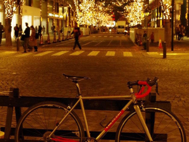 東京 レンタサイクル ケルビム ハンドメイド ロードバイク クロモリ 武蔵野市 吉祥寺 三鷹 レンタル イルミネーション